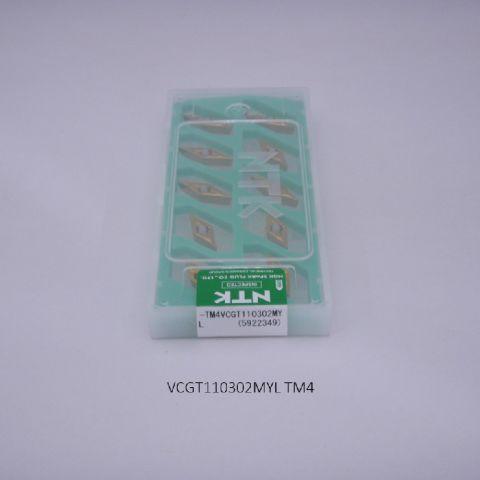 NTK バイト用チップ 35゜菱形ポジ7゜穴付G級 VCGT110302MYL TM4 PVDコーテッド超硬