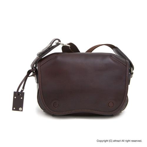 エルゴポック HERGOPOCH Waxed Leather ワキシングレザー ミニショルダーバッグ 06-OVL ダークブラウン 【smtb-KD】