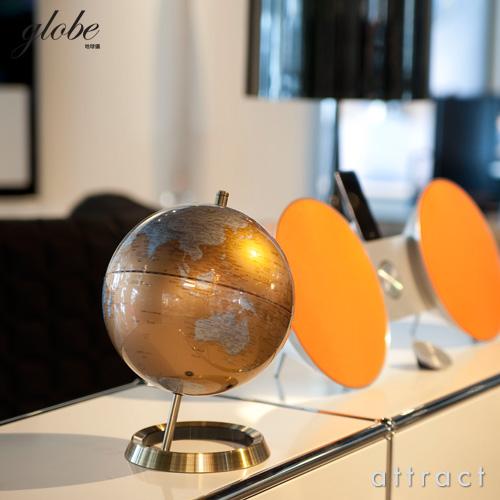 Globe 地球儀 M 20cm カラー:ブルー シルバー ゴールド ブラック ホワイト アンティーク サテライト World Earth GB グローブボール インテリアグローブ インテリア雑貨 ステーショナリー 入学 進学 ギフト 贈り物