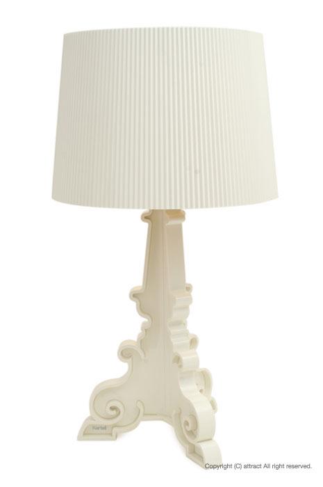 カルテル 高知 Kartell Bourgie ブルジー テーブルランプ 照明 ライト BOUR-9076 カラー:ホワイト デザイナー:フェルーチョ・ラヴィアーニ デザイナーズ インテリア モダン 【smtb-KD】