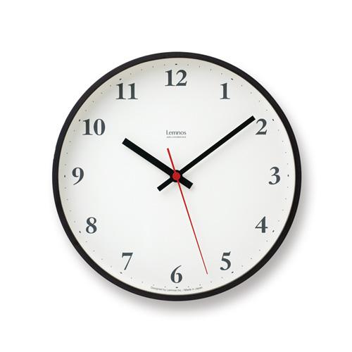 レムノス Lemnos タカタ プライウッド クロック Plywood Clock 壁掛け時計 ウォールクロック デザイン:森 豊史 LC10-21W カラー:2色 Φ254mm 電波ステップムーブメント  【HLS_DU】