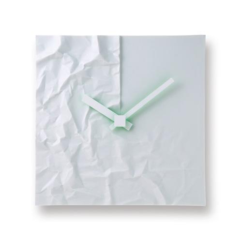 レムノス Lemnos タカタ クリンクル CRINKLE 壁掛け時計 ウォールクロック MKL08-23 B デザイン:小松 誠 ステップムーブメント 【smtb-KD】  【HLS_DU】