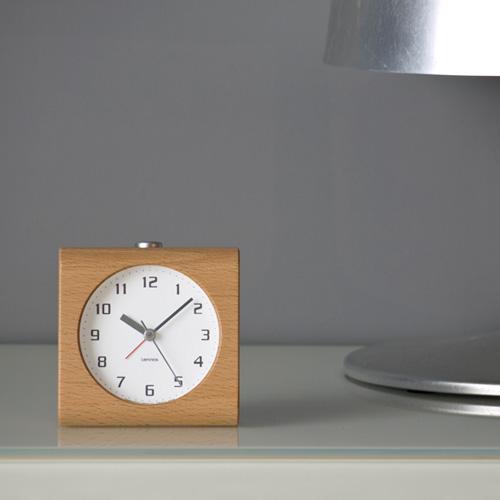 レムノス Lemnos タカタ ブロック Block アラームクロック 目覚まし時計 PA08-30 カラー:3色 スイープアラームムーブメント スヌーズ機能、ライト付き   【HLS_DU】