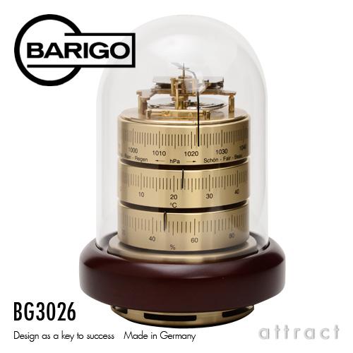 バリゴ BARIGO Barometer Thermo-Hygrometer 温湿気圧計 サイズ:Φ120mm ゴールド BG3026 ドーム型気象計・卓上 木製ベース ドイツ製 デザイン 計器 ミニマム 温度 湿度 気圧 出産祝い 風邪 ウイルス カビ 予防 【smtb-KD】