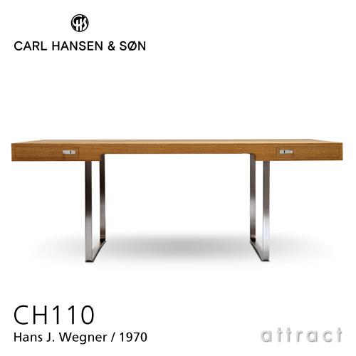 カールハンセン & サン Carl Hansen & Son デスク Desk ワーキング テーブル CH110 Hans.J.Wegner ハンス・J・ウェグナー サイズ:190cm オーク Oak オイルフィニッシュ ステンレススチール ベース 机 オフィス 書斎 北欧 椅子