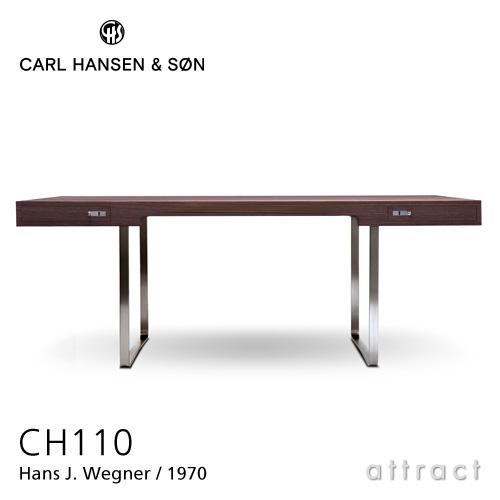 カールハンセン & サン Carl Hansen & Son デスク Desk ワーキング テーブル CH110 Hans.J.Wegner ハンス・J・ウェグナー サイズ:190cm スモークドオーク Smaked Oak オイルフィニッシュ ステンレススチール ベース 机 オフィス