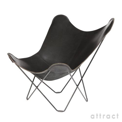 お気にいる 正規取扱店 送料無料 BKFチェア アルゼンチンデザインの20世紀を代表する名作チェア バタフライ チェア 4年保証 MoMA ミッドセンチュリー コルビジエ BKF Chair クエロ cuero Butterfly ブラック パンパ PAMPA BLACK マリポーサ ベジタブルタンニンなめし革 マリポサ バタフライチェア MARIPOSA smtb-KD スチールフレーム
