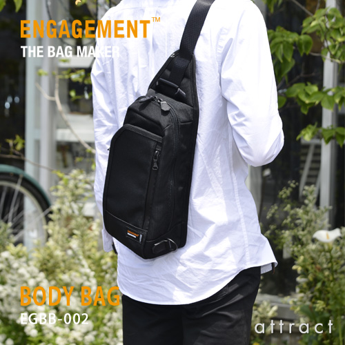 エンゲージメント ENGAGEMENT エンゲージド・ナイロン Engaged Nylon Shoulder Bag ワンショルダーバッグ ボディバッグ カラー:2色 EGBB-002 耐久性 軽量 撥水 止水 ジェットセッター 【smtb-KD】