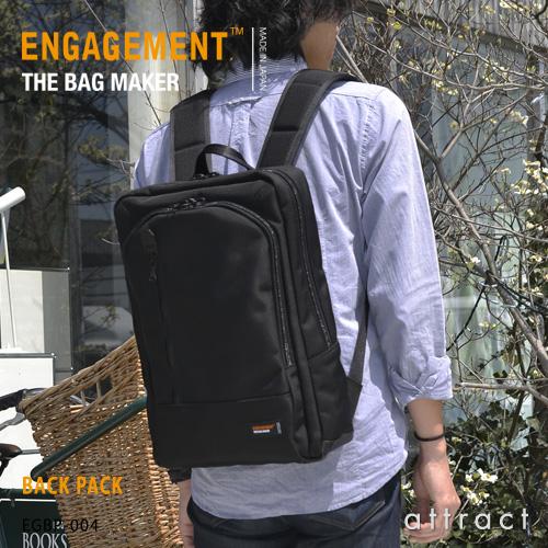 エンゲージメント ENGAGEMENT エンゲージド・ナイロン Engaged Nylon Back Pack バックパック PC用スリーブ リュック EGBP-004 耐久性 軽量 撥水 止水 ジェットセッター 【smtb-KD】