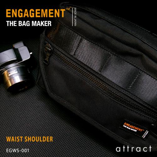 エンゲージメント ENGAGEMENT エンゲージド・ナイロン Engaged Nylon Waist Shoulder ウエストショルダー ボディバッグ カラー:3色 EGWS-001 耐久性 軽量 撥水 止水 ジェットセッター 【smtb-KD】