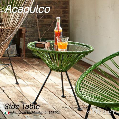 アカプルコ チェア Acapulco サイドテーブル Side Table アウトドア ガーデンチェア 屋内&屋外兼用 カラー:全5色 メキシコ製 PVCコード 椅子 イス チェア 屋外 リゾート ハンドメイド ラウンジ モダン 【smtb-KD】