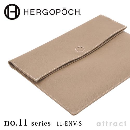 エルゴポック HERGOPOCH NO.11 Series Prime Grain Leather プライムグレインレザー エンベロープ クラッチバッグ 11-ENV-S ハンドバッグ Sサイズ A5対応 カラー:5色 オイル鞣し ビジネス カジュアル 【smtb-KD】