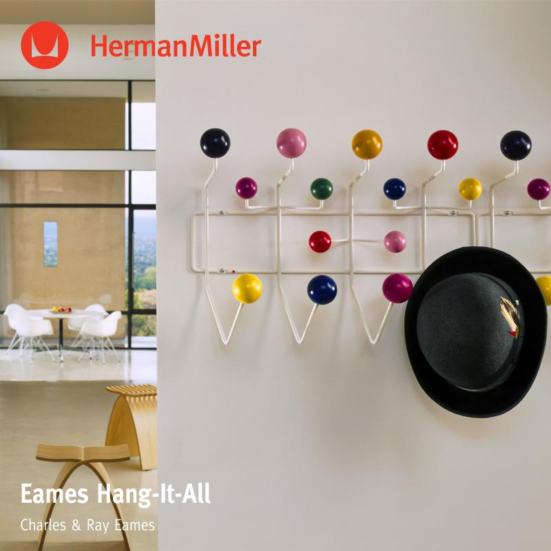 ハーマンミラー Herman Miller イームズ ハングイット オール Eames Hang-It-All マルチカラー デザイン:Charles & Ray Eames チャールズ&レイ・イームズ ウォールハンガー コートハンガー フック 壁面 収納 【RCP】【smtb-KD】