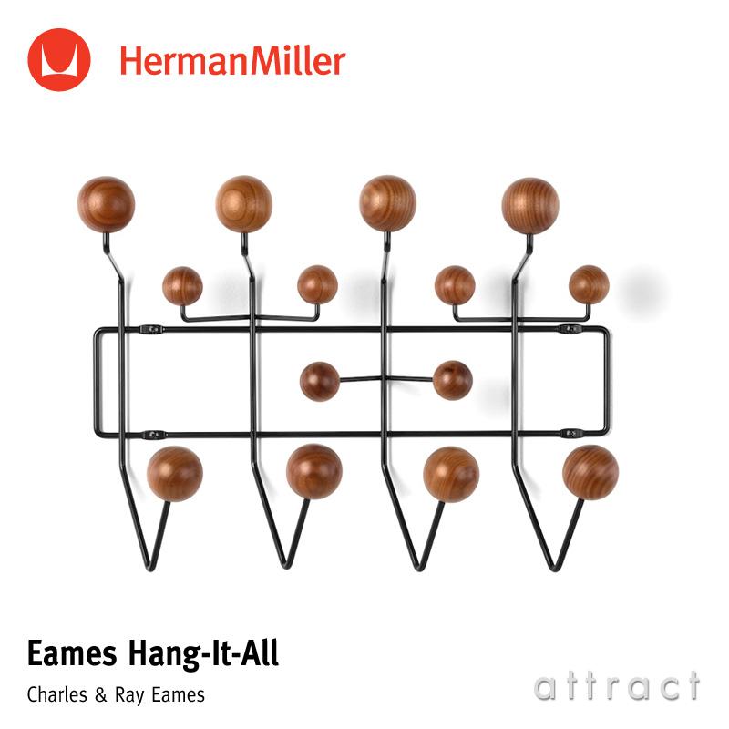 ハーマンミラー Herman Miller イームズ ハングイット オール Eames Hang-It-All ウォールナット ブラック デザイン:Charles & Ray Eames チャールズ&レイ・イームズ ウォールハンガー コートハンガー フック 壁面 収納 【smtb-KD】