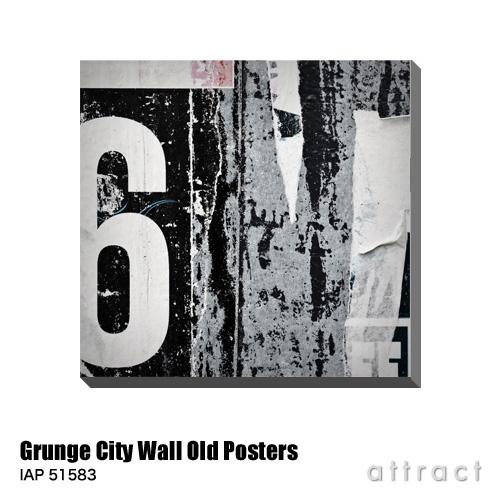 アートパネル Art Panel Grunge City Wall with Old Posters W600×H576mm IAP 51583 Magicinfoto アートポスター キャンバス MDF インテリア 壁掛け アクリル 油絵具 壁面 デザイン リビング 抽象画 フレーム 【smtb-KD】
