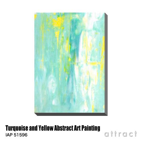 アートパネル Art Panel Turquoise and Yellow Abstract Art Painting W600×H800mm IAP 51596 T30 Gallery アートポスター キャンバス MDF インテリア 壁掛け アクリル 油絵具 壁面 デザイン リビング 抽象画 フレーム 【smtb-KD】