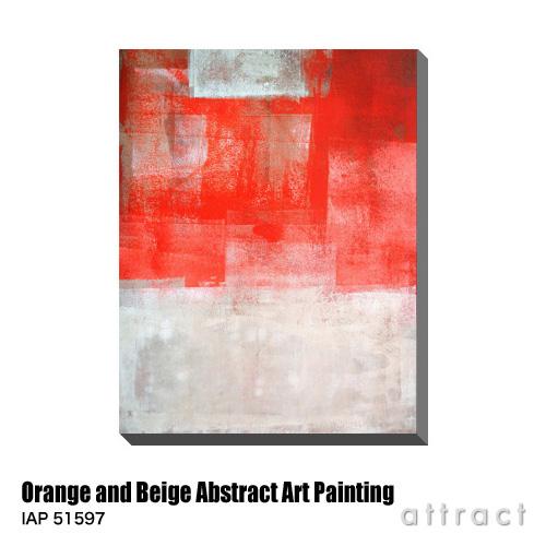 アートパネル Art Panel Orange and Beige Abstract Art Painting W600×H800mm IAP 51597 T30 Gallery アートポスター キャンバス MDF インテリア 壁掛け アクリル 油絵具 壁面 デザイン リビング 抽象画 フレーム 【smtb-KD】