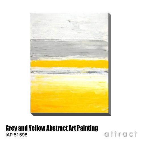 アートパネル Art Panel Grey and Yellow Abstract Art Painting W600×H800mm IAP 51598 T30 Gallery アートポスター キャンバス MDF インテリア 壁掛け アクリル 油絵具 壁面 デザイン リビング 抽象画 フレーム 【smtb-KD】