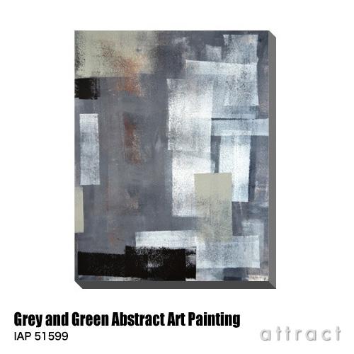 アートパネル Art Panel Grey and Green Abstract Art Painting W600×H800mm IAP 51599 T30 Gallery アートポスター キャンバス MDF インテリア 壁掛け アクリル 油絵具 壁面 デザイン リビング 抽象画 フレーム 【smtb-KD】