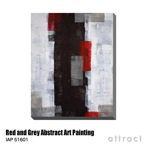 アートパネル Art Panel Red and Grey Abstract Art Painting W600×H800mm IAP 51601 T30 Gallery アートポスター キャンバス MDF インテリア 壁掛け アクリル 油絵具 壁面 デザイン リビング 抽象画 フレーム 【smtb-KD】