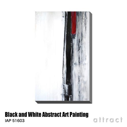 アートパネル Art Panel Black and White Abstract Art Painting W530×H800mm IAP 51603 T30 Gallery アートポスター キャンバス MDF インテリア 壁掛け アクリル 油絵具 壁面 デザイン リビング 抽象画 フレーム 【smtb-KD】