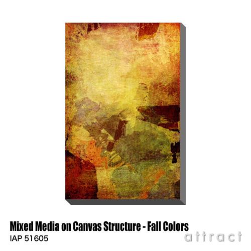 アートパネル Art Panel Mixed Media on Canvas Structure - Fall Colors W530×H800mm IAP 51605 MoinMoin アートポスター キャンバス MDF インテリア 壁掛け アクリル 油絵具 壁面 デザイン リビング 抽象画 フレーム 【smtb-KD】