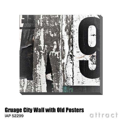 アートパネル Art Panel Gruage City Wall with Old Posters W600×H576mm IAP 52299 アートポスター キャンバス MDF インテリア 壁掛け アクリル 油絵具 壁面 デザイン リビング 抽象画 フレーム 【smtb-KD】