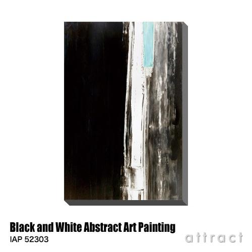 アートパネル Art Panel Black and White Abstract Art Painting W530×H800mm IAP 52303 アートポスター キャンバス MDF インテリア 壁掛け アクリル 油絵具 壁面 デザイン リビング 抽象画 フレーム 【smtb-KD】