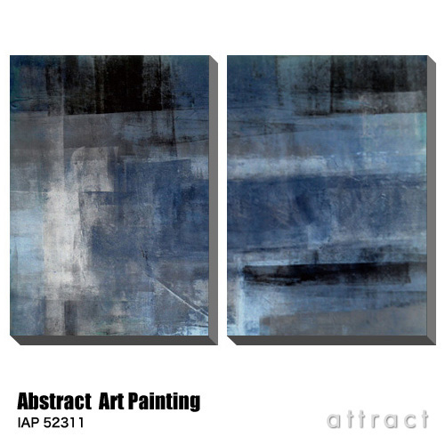 アートパネル Art Panel Abstract Art Painting W500×H750mm 2枚セット IAP 52311 アートポスター キャンバス MDF インテリア 壁掛け アクリル 油絵具 壁面 デザイン リビング 抽象画 フレーム 【smtb-KD】