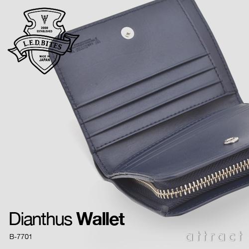 526ce1f92994 エルイーディーバイツ L.E.D BITES LED バイツ Dianthus ダイアンサス カモフラ パンチング ウォレット 2つ折り財布