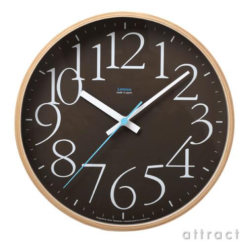 レムノス Lemnos タカタ AY clock エーワイクロック LC09-17 ブラウン 壁掛け時計 掛時計 時計 ウォールクロック デザイン:山本章 インテリア デザイン 雑貨