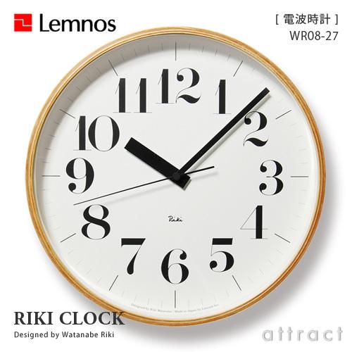 レムノス Lemnos タカタ Riki Clock リキ クロック Lサイズ 太字 WR-0827L (電波時計) 壁掛け時計 掛時計 時計 ウォールクロック デザイン:渡辺 力 インテリア デザイン 雑貨 【smtb-KD】