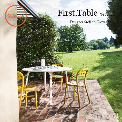 マジス MAGIS ファーストテーブル First Table TV894 サイズ:直径80cm ガーデンテーブル 屋外使用可能 HPL カラー:2色 デザイン:Stefano Giovannoni ステファノ・ジョバンノーニ アウトドア 屋外 カフェ 【smtb-KD】