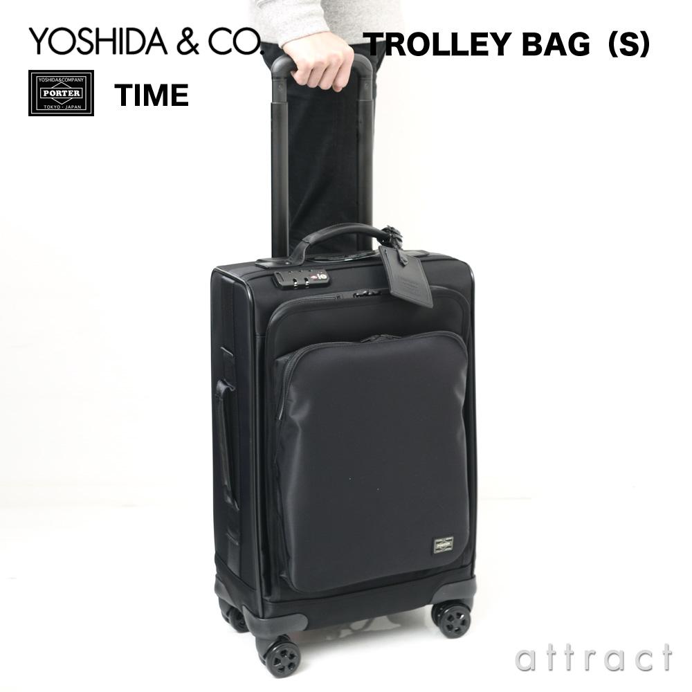 吉田カバン YOSHIDA & Co. ポーター PORTER タイム TIME トロリーバッグ S スーツケース キャスター サイズ:25L (約2~3泊用) カラー:全2色 655-17871 【smtb-KD】