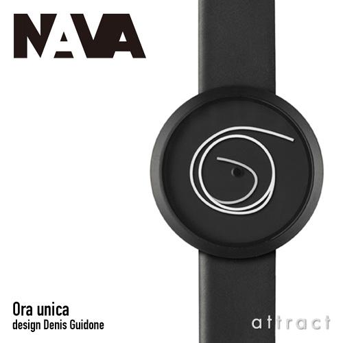 ナヴァ デザイン NAVA design オラ ウニカ Ora Unica ウォッチ Watch ブラック ブラックレザー NVA020010 腕時計 レザーバンド 日本製クォーツ 3気圧防水 Denis Guidone プロダクト インテリア 【smtb-KD】