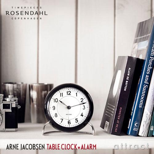 AJ テーブルクロック AJ Table Clock ローゼンダール ROSENDAHL テーブルクロック Table Clock アルネ ヤコブセン Arne Jacobsen Φ110mm LED灯・アラーム機能 置時計 目覚まし時計 【smtb-KD】