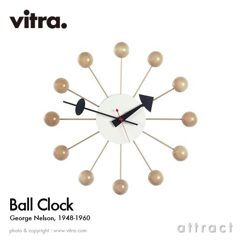 ヴィトラ Vitra Ball Clock ボールクロック Wall Clock ウォールクロック 掛け時計 デザイン:George Nelson ジョージ・ネルソン カラー:ナチュラルウッド デザイナー パントン イームズ イサム ノグチ 【smtb-KD】