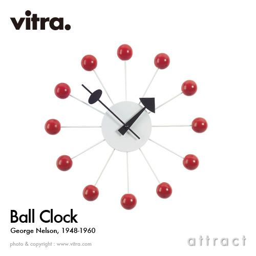 ヴィトラ Vitra Ball Clock ボールクロック Wall Clock ウォールクロック 掛け時計 デザイン:George Nelson ジョージ・ネルソン カラー:レッド スイス デザイナー ビトラ パントン イームズ イサム ノグチ 【smtb-KD】