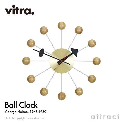 ヴィトラ Vitra Ball Clock ボールクロック Wall Clock ウォールクロック 掛け時計 デザイン:George Nelson ジョージ・ネルソン カラー:チェリー スイス デザイナー ビトラ パントン イームズ ノグチ 【smtb-KD】