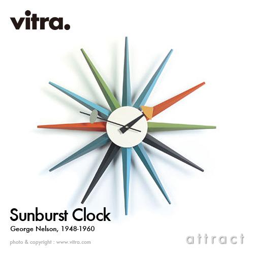 ヴィトラ Vitra Sunburst Clock サンバーストクロック Wall Clock ウォールクロック 掛け時計 デザイン:George Nelson ジョージ・ネルソン カラー:マルチカラー デザイナー パントン イームズ 【smtb-KD】