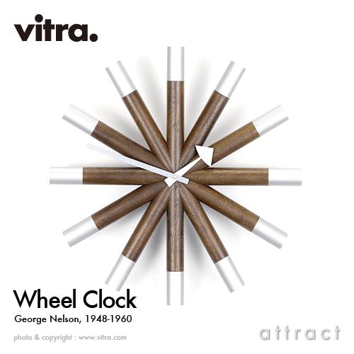 ヴィトラ Vitra Wheel Clock ホイールクロック Wall Clock ウォールクロック 掛け時計 デザイン:George Nelson ジョージ・ネルソン カラー:ウォルナット デザイナー ビトラ パントン イームズ 【smtb-KD】