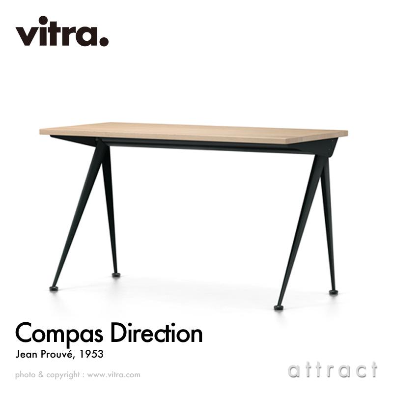 ヴィトラ Vitra コンパス ディレクション Compas Direction W125cm テーブル 机 デスク デザイン:Jean Prouve ジャン・プルーヴェ カラー:ナチュラルオーク オイル仕上げ ベースカラー:全5色 書斎 家具 インテリア 【smtb-KD】