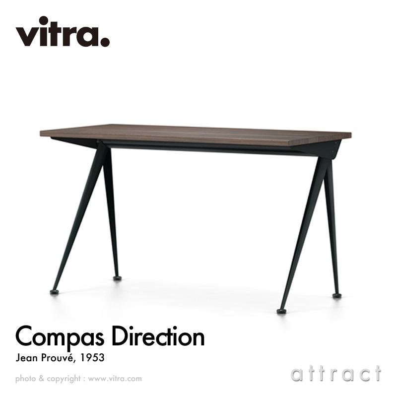 ヴィトラ Vitra コンパス ディレクション Compas Direction W125cm テーブル 机 デスク デザイン:Jean Prouve ジャン・プルーヴェ カラー:スモークドオーク オイル仕上げ ベースカラー:全5色 書斎 家具 インテリア 【smtb-KD】