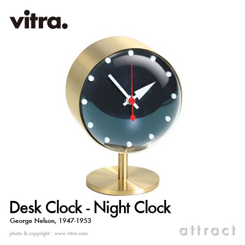 ヴィトラ Vitra Desk Clocks デスククロック Night Clock ナイト クロック テーブルクロック 置き時計 デザイン:George Nelson ジョージ・ネルソン ムーブメント:ドイツ製クオーツ ビトラ イームズ 【smtb-KD】
