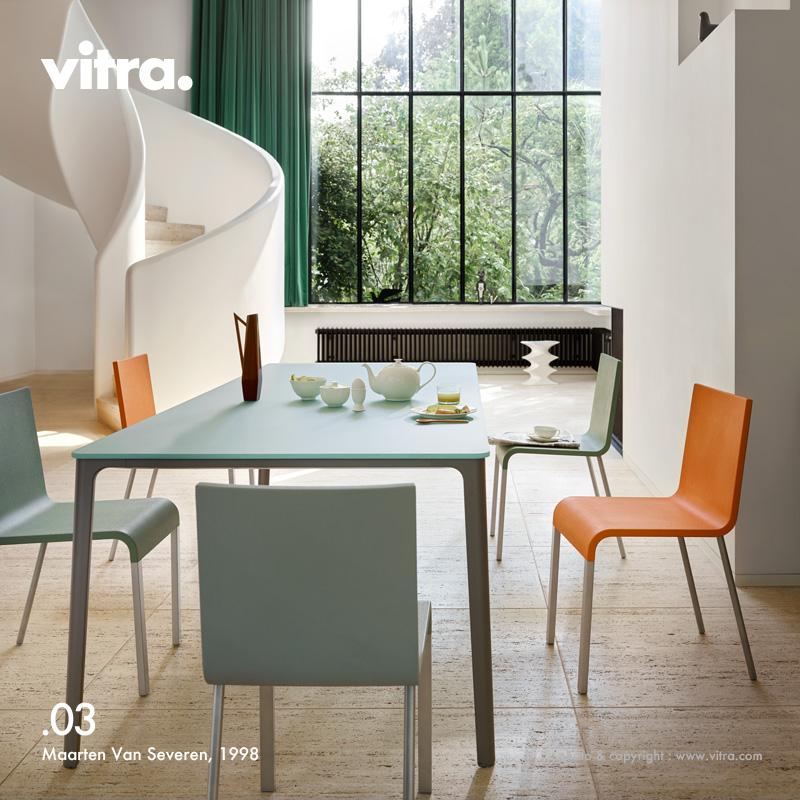 ヴィトラ Vitra .03 ゼロスリー デザイン:Maarten Van Severen マールテン・ヴァン・セーヴェレン シートカラー:7色 ベースカラー:3色 パウダーコート仕上げ スタッキング対応 オフィス ダイニング ワーク チェア 椅子 家具 【smtb-KD】