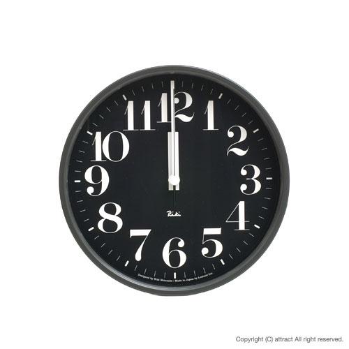 レムノス Lemnos タカタ Riki Steel Clock リキ スチールクロック 掛時計 電波時計 WR-0825 壁掛け時計 掛時計 時計 ウォールクロック カラー:ブラック デザイン:渡辺 力 インテリア デザイン 雑貨 ギフト 【smtb-KD】