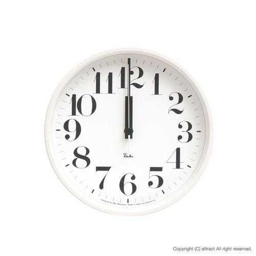 レムノス Lemnos タカタ Riki Steel Clock リキ スチールクロック 掛時計 電波時計 WR-0825 壁掛け時計 掛時計 時計 ウォールクロック カラー:ホワイト デザイン:渡辺 力 インテリア デザイン 雑貨 ギフト 【smtb-KD】