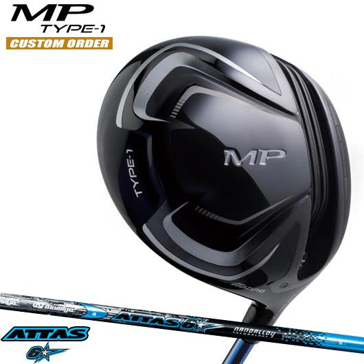 ミズノ MP TYPE-1 ドライバーATTAS 6☆ シャフト装着仕様#カスタムオーダー#特注#MIZUNO/MPタイプ1/435cc#アッタスロックスター