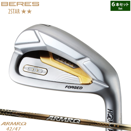 ホンマゴルフ ベレス アイアン 2スター5本セット(#6-#11)ARMRQ 42/47 純正カーボンシャフト装着仕様#本間#HONMA#BERES#アーマック#2星