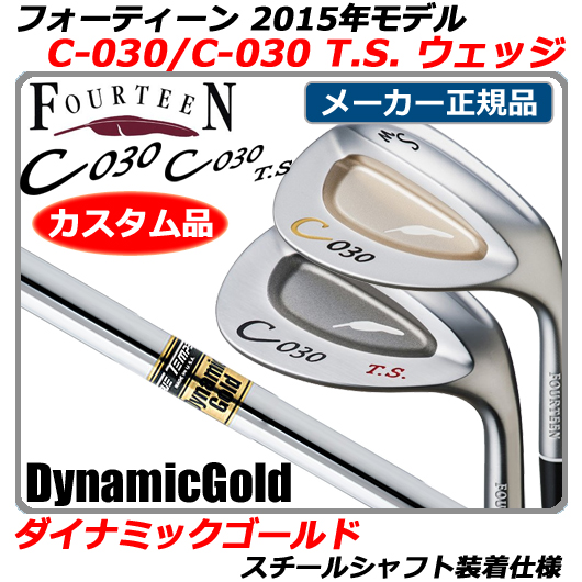 【新品】【送料無料】【2015年モデル】日本正規品・メーカー正規カスタムフォーティーン C-030/C-030 T.S. ウェッジFOURTEEN C030/C030TS WEDGE・ダイナミックゴールド シャフト装着仕様(DynamicGold/DG)